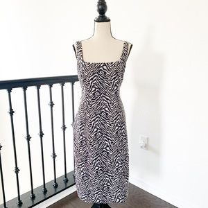 Banana Republic Zebra Print Sloan Sheath Dress
